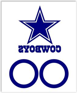 "13""  Dallas Cowboys Cornhole Decals with 6""  circles vinyl d"