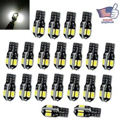 20Pcs Canbus T10 194 168 W5W 5730 8LED SMD White Car Side We