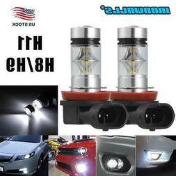 2X H11 H8 H9 LED Fog Light Conversion Kit Bulbs High Power 6