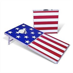 GoSports 4x2 Cornhole Bag Toss Game | American Stars and Str