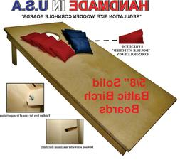 "UNFINISHED CORNHOLE BOARDS BEANBAG TOSS GAME SET w ""pick you"