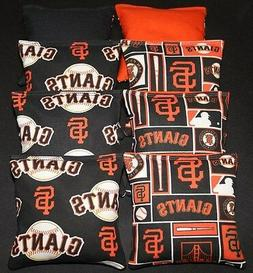 ALL WEATHER CORNHOLE BEAN BAGS made w San Francisco Giants f