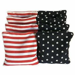 American Stars and Stripes Cornhole Bags  - Official Size &a