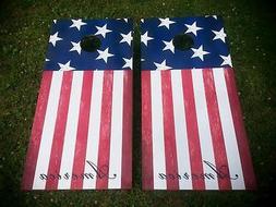 American Stars & Stripes Flag Corn Hole Boards - Bean Bag To