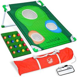 GoSports BattleChip Backyard Golf Cornhole Game, Includes Ch