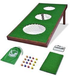 GoSports BattleChip PRO Backyard Golf Cornhole Chipping Game