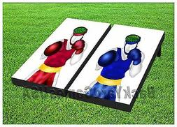 BOXER Custom Cornhole Boards BEANBAG TOSS GAME w Bags Boxing