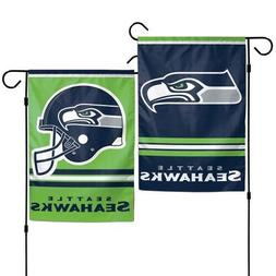 "Brand New NFL Seattle Seahawks 2 Sided 12.5"" X 18"" Garden Fl"