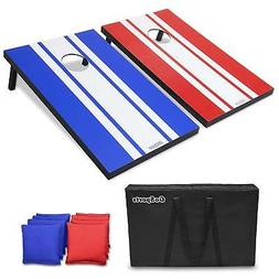 GoSports Classic Cornhole Set - Includes 8 Bean Bags, Travel