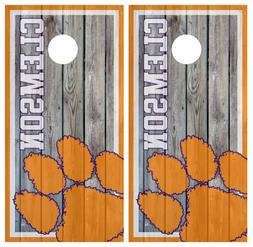 Clemson Tigers Cornhole Board Wrap Skins Vinyl HIGH QUALITY
