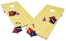 Wild Sports Cleveland Indians MLB Baseball XL Cornhole Wood
