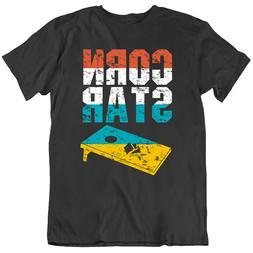 Corn Star Corn Hole Funny Cornhole Tournament Men's T Shirt