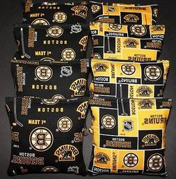 CORNHOLE BAGS made w BOSTON BRUINS Fabric ACA Regulation Bag