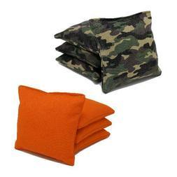 Cornhole Bags: Set of 8 Free Donkey Sports® Camo and Orange