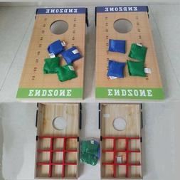 Cornhole Bean Bag Toss Game Set Outdoor Fun Games  2 Boards