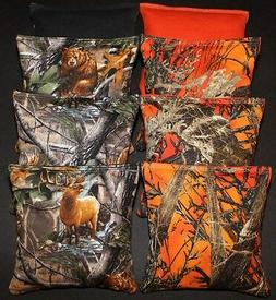 CORNHOLE BEAN BAGS Orange Tree Camo REALTREE Deer 8 ACA Regu