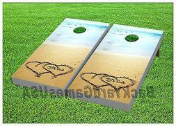 Cornhole Boards BEANBAG TOSS GAME w Bags Outdoor Beach Weddi