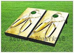 Cornhole Boards Wedding Day Champaign Glasses BEANBAG TOSS G