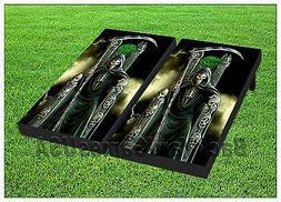 Custom Cornhole Boards BEANBAG TOSS GAME w Bags Gothic Grim