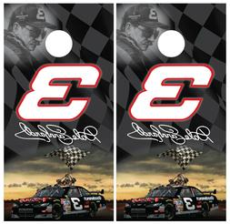 Dale Earnhardt 3 NASCAR Cornhole Board Wraps Skins Vinyl Lam