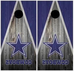 Dallas Cowboys Wood Cornhole Board Wraps Skins Vinyl Laminat