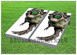 dinosaur custom cornhole boards beanbag toss game