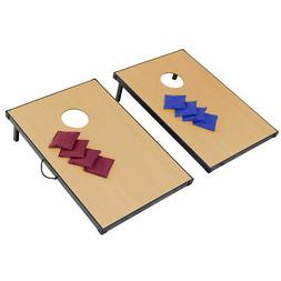 Foldable Wooden Bean Bag Toss Cornhole Game Set Boards Tailg