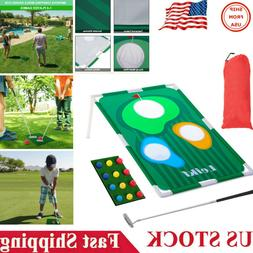 Golf CornHole Toss Fun Game Set Portable In/Outdoor Backyard