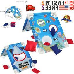 GoSports Portable PVC Framed CornHole Game Set w 6 Bean Bags