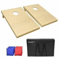 gosports solid wood premium cornhole set choose