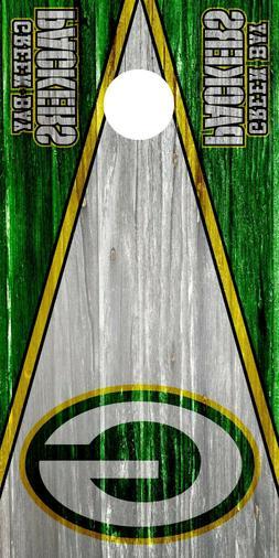Green Bay Packers Cornhole Wrap Board Decal NFL Skin 3M Viny
