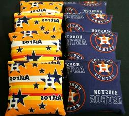 HOUSTON ASTROS MLB 8 CORNHOLE BEAN BAGS GAME Toss 2017 World
