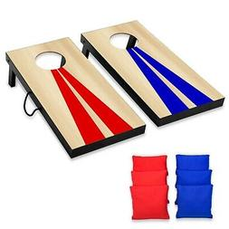 GoSports Junior Size Cornhole Game Set with 6 Bean Bags for