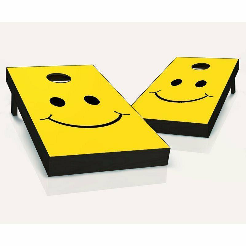 2' x 4' Smiley Solid Wood Cornhole Board
