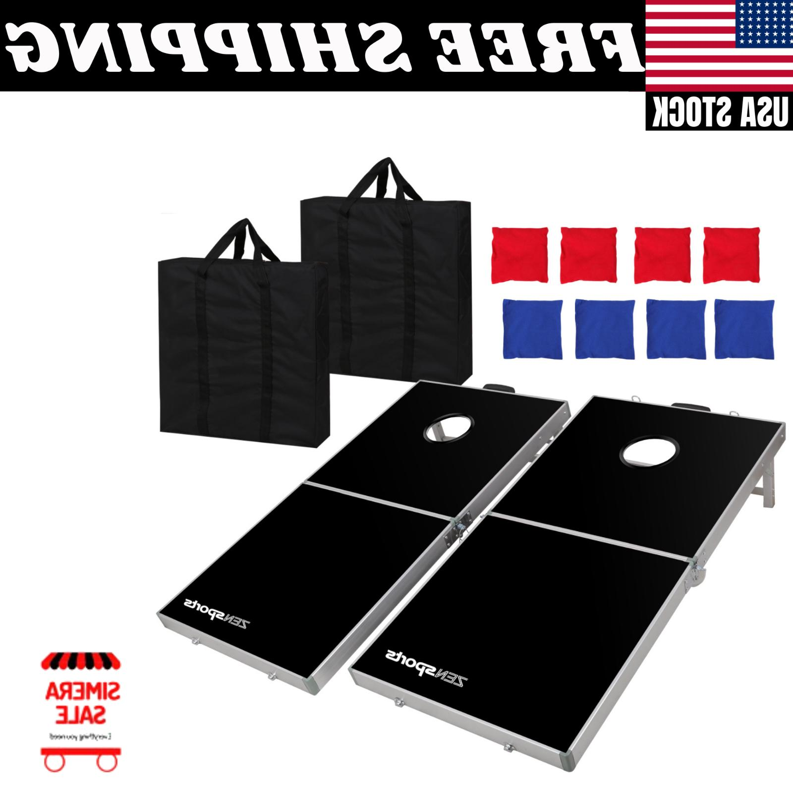 4 x Aluminium Cornhole Pro Size Bean Set Black