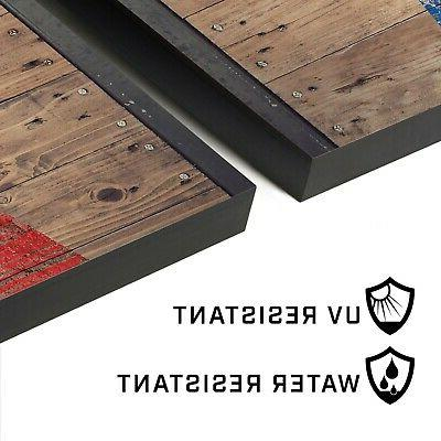 4'x2' Cornhole with Rustic Steel Decals | Includes 8 and Case
