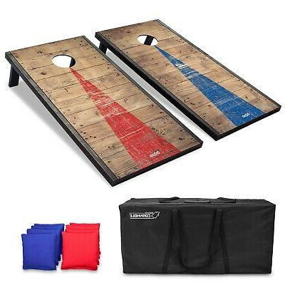 4 x2 cornhole game boards with rustic