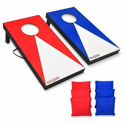 GoSports Travel Size Cornhole Bean Bag Toss Boards - Youth S