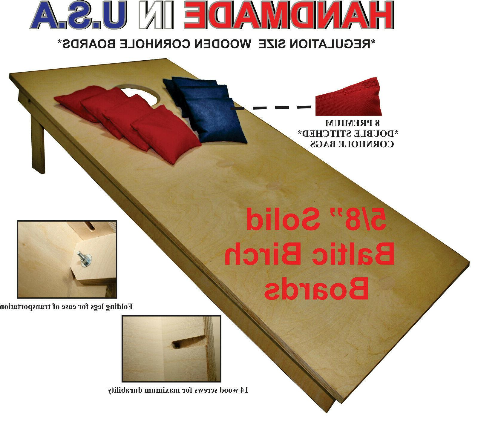 """UNFINISHED CORNHOLE BOARDS BEANBAG TOSS GAME SET w """"pick you"""