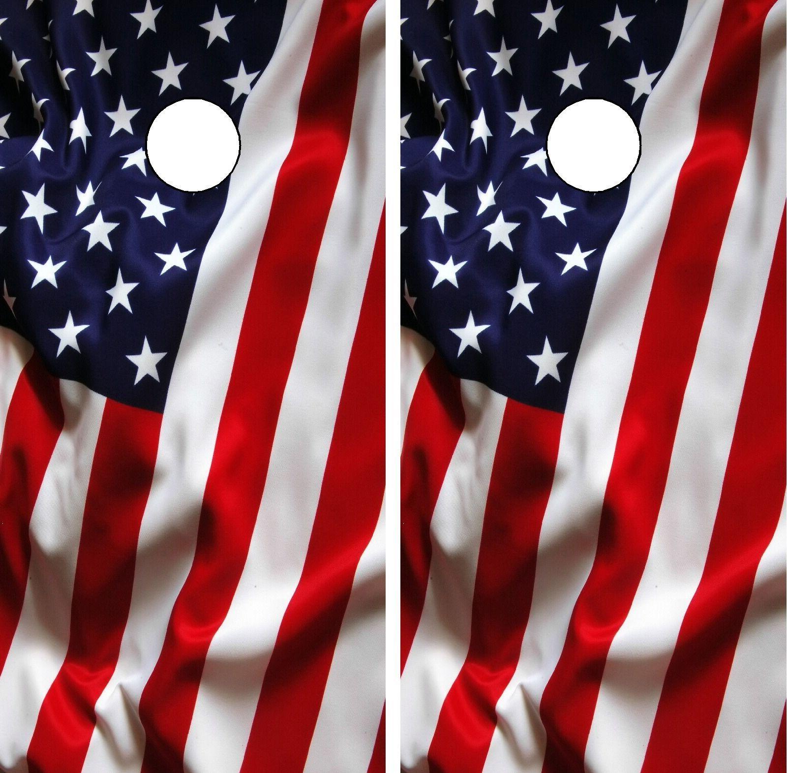 C193 American Flag Cornhole Board Wrap LAMINATED Wraps Decal