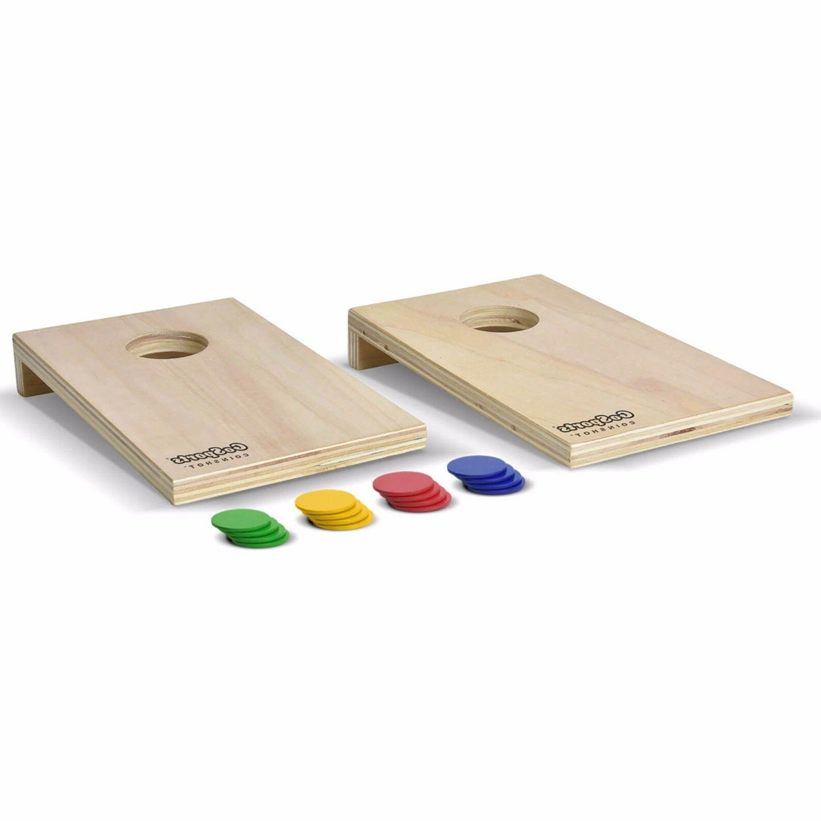 coinshot mini cornhole game set