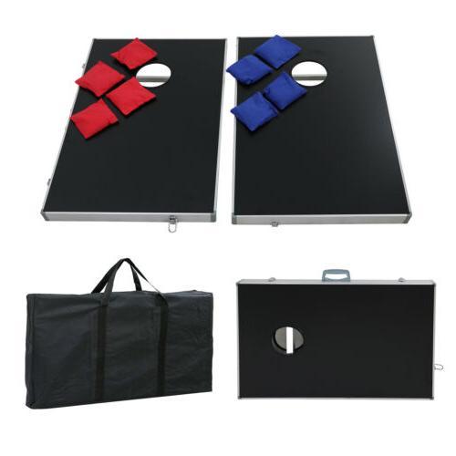 CornHole Game Set Aluminum Portable W/ Carrying Bag