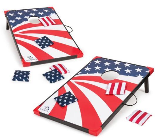 Cornhole Bag Toss Game Outdoor Americana Tailgate Patio Backyard Games