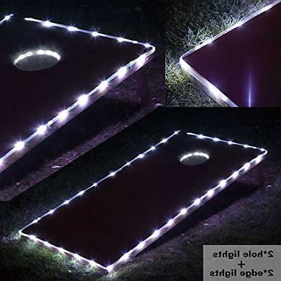 Cornhole Ring Lights and Cornhole Edge Lights, LED Cornhole