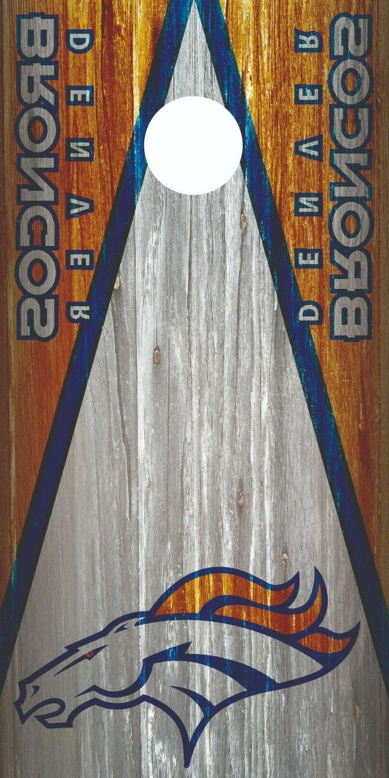 denver broncos cornhole wrap board decal nfl