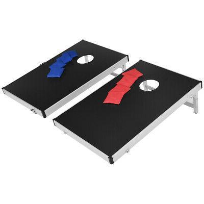 Foldable Bean Cornhole Set Regulation w/ Carrying