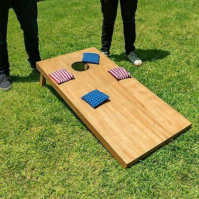 GoSports Full Bag Game Boards - Brown Wooden Boards