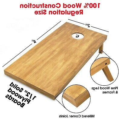 GoSports Bag Toss Game Boards - Wooden Boards