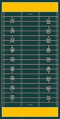 Generic Football field Cornhole Board Printed 3M Vinyl Wrap