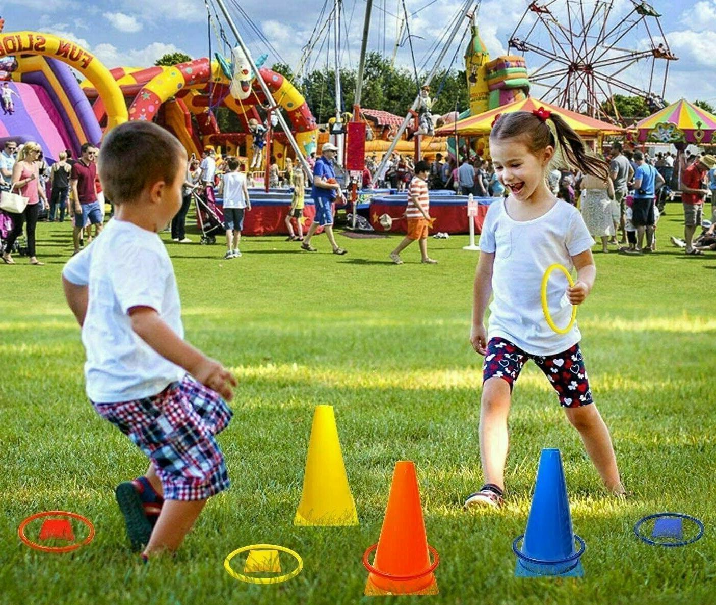 Kids Bean Bag Game Outdoor Carnivals Hole Set